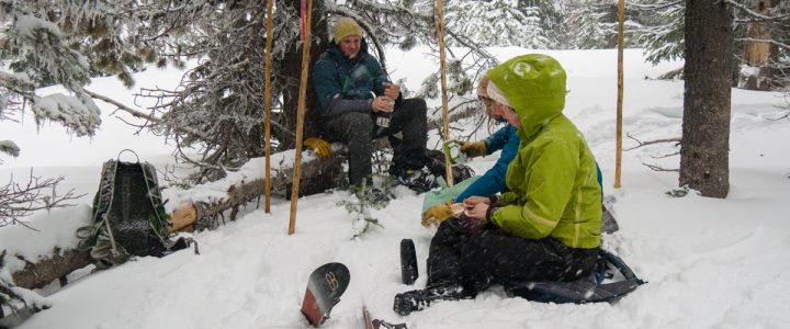 A January Tour – Nils and family skiing in the Kettle Range.