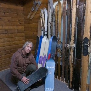 Nils with various Karhu test skis